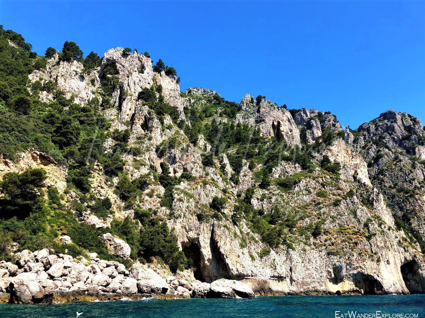 Capri mountainous shore