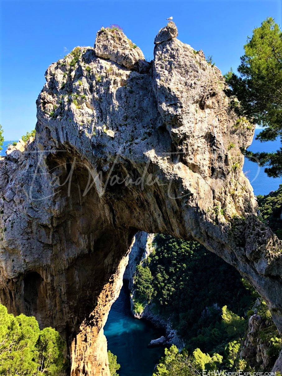Natural Arch of Capri looks like an Elephant