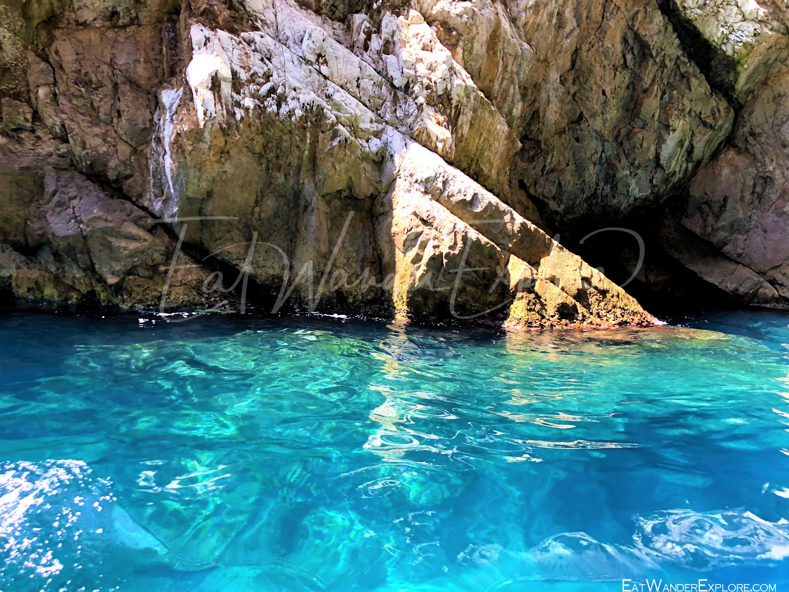 Clear blue sea around Capri Italy