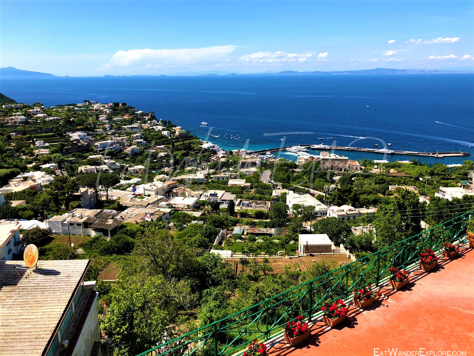 View of Capri from the top