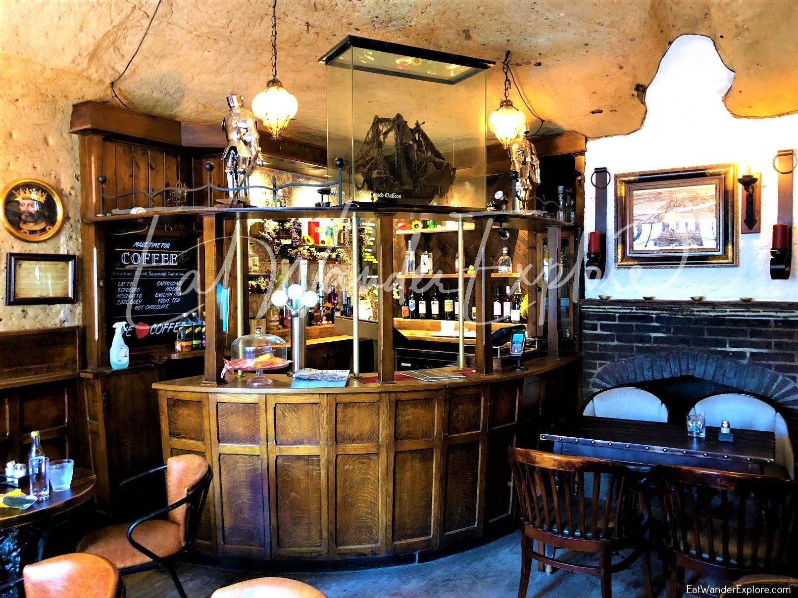 Upstairs bar in Ye Olde Trip to Jerusalem
