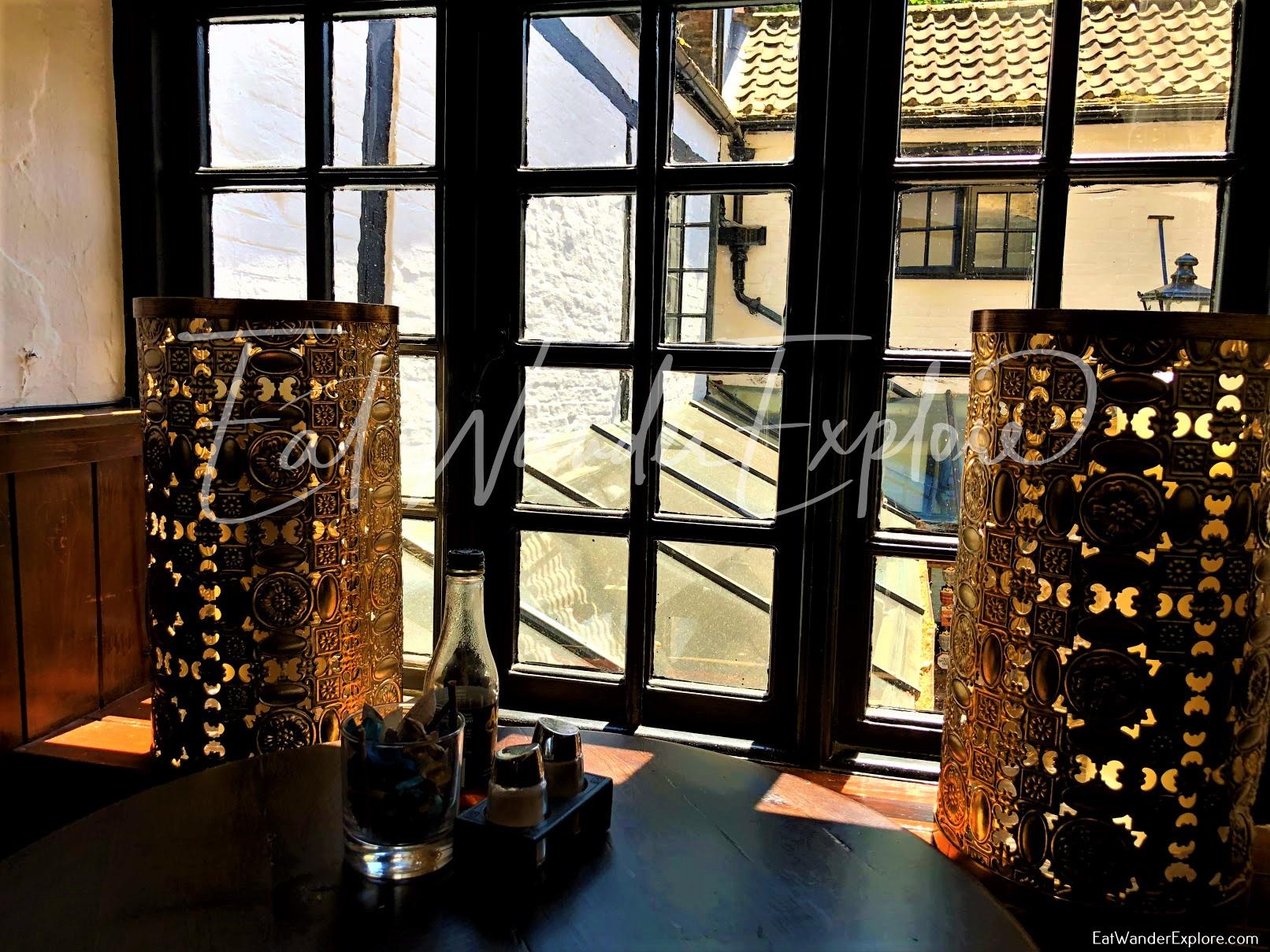 window view in Ye Olde Trip to Jerusalem