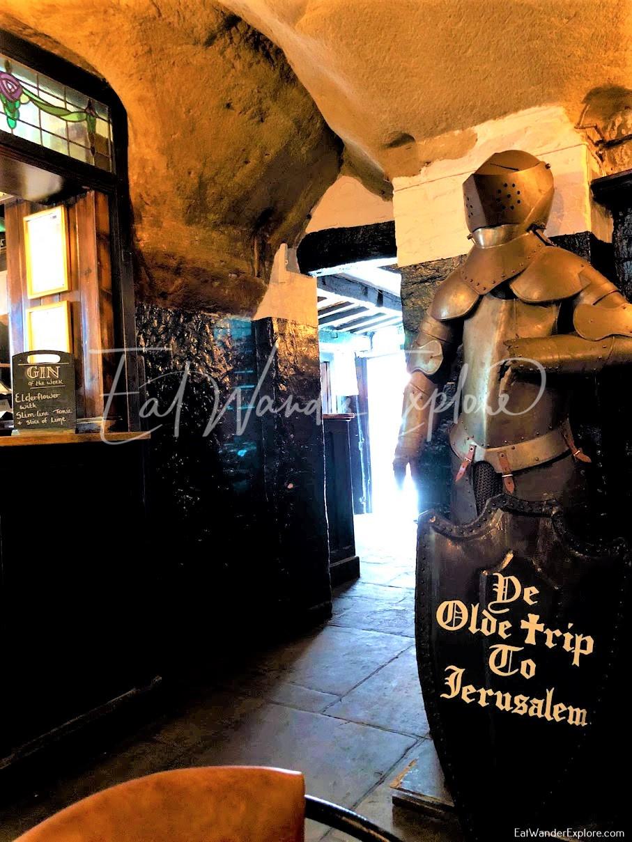 Knight's armor in Ye Olde Trip to Jerusalem