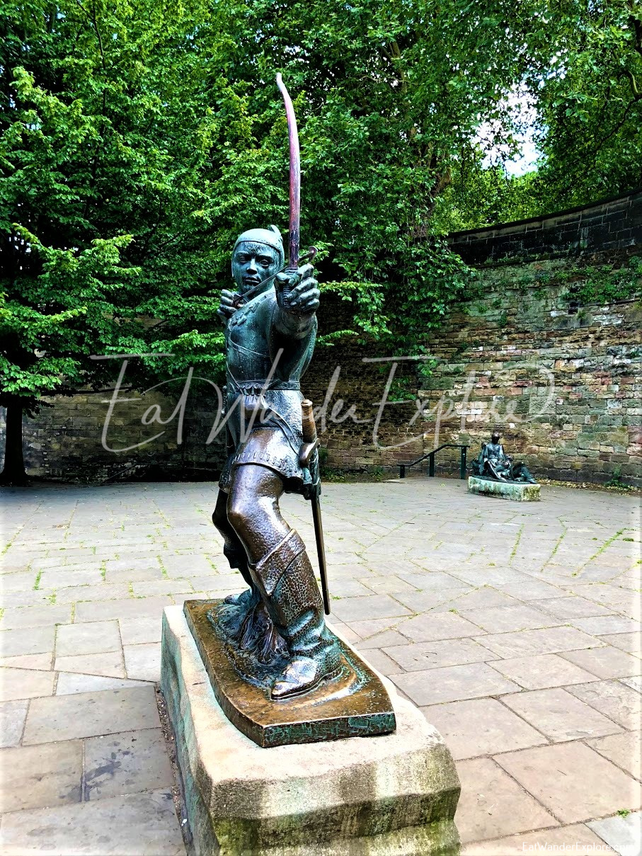 Side View of Robin Hood Statue