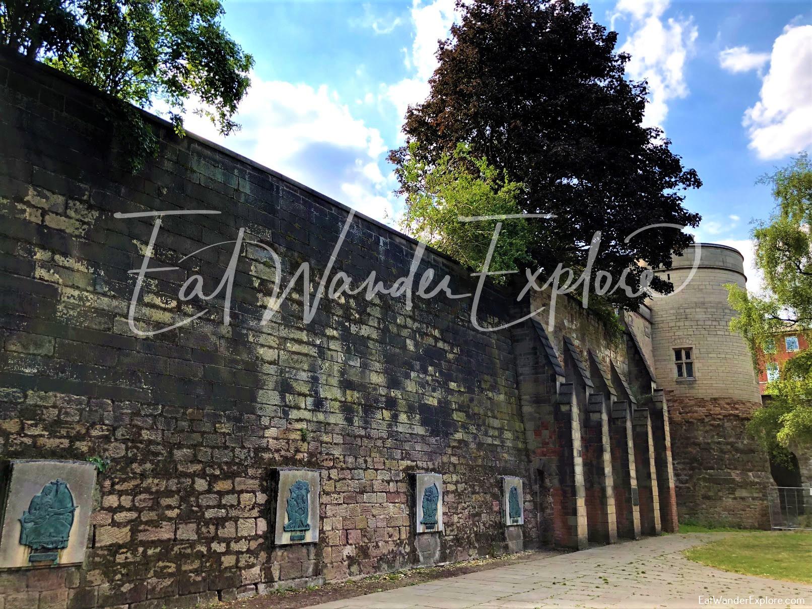 Nottingham Castle side wall