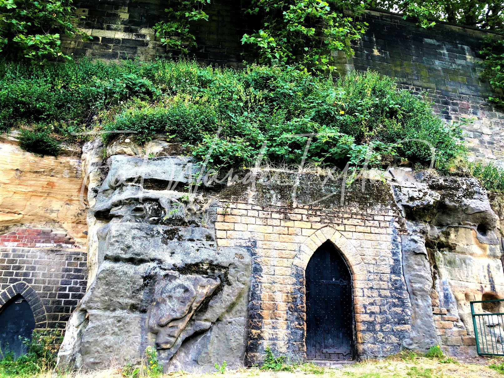 Nottingham Castle outer wall
