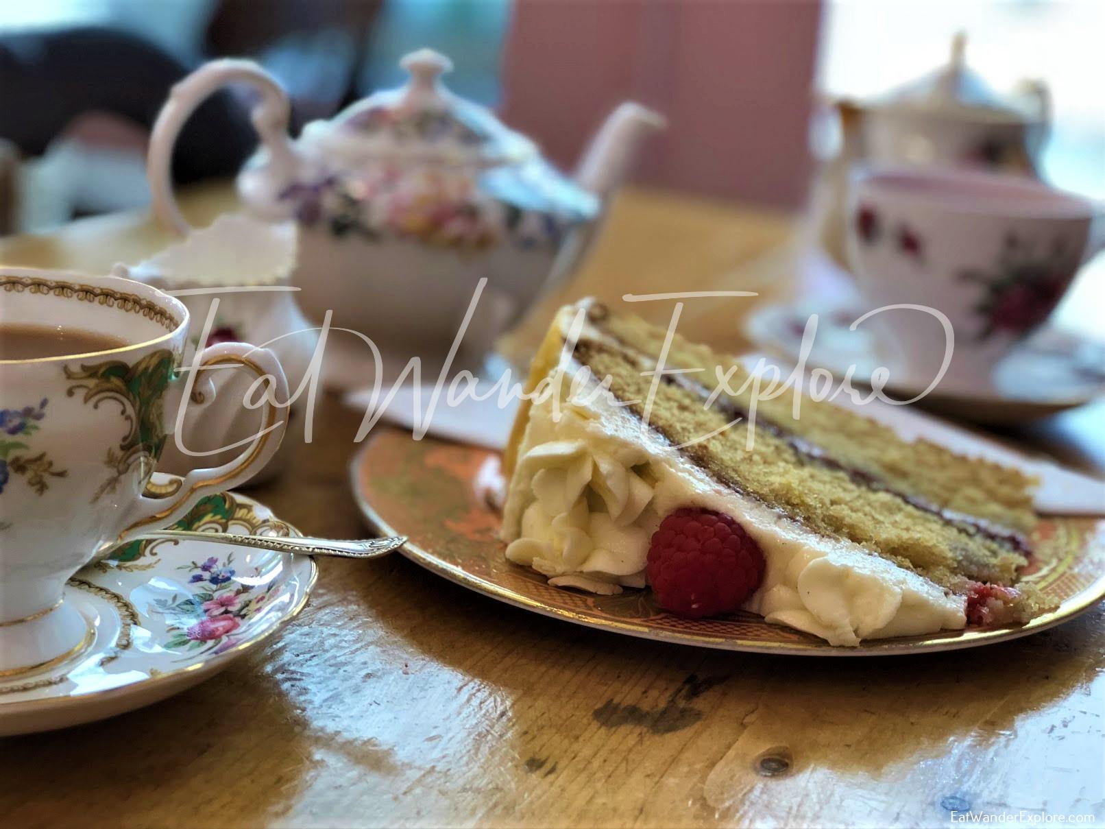 White Rabbit Teahouse cake and tea