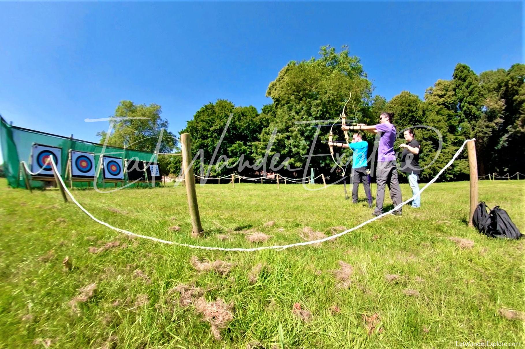 Archery like Robin Hood in Nottingham