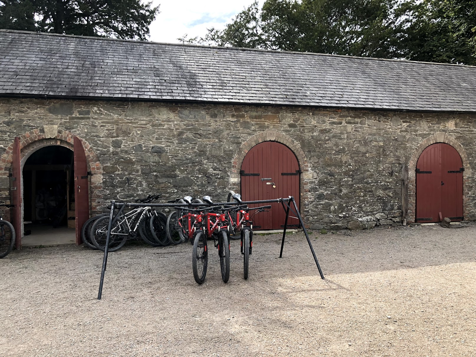 Tyrion Meets Jon & Ned Kills Lady  Apart from the bikes in the picture, this is the location where Tyrion and Jon Snow first meet. It is also the location where Ned is commanded to kill Lady, Sansa's DIre Wolf, in place of Nymeria (Arya's).