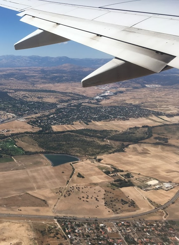 plane wing view travel air.JPG