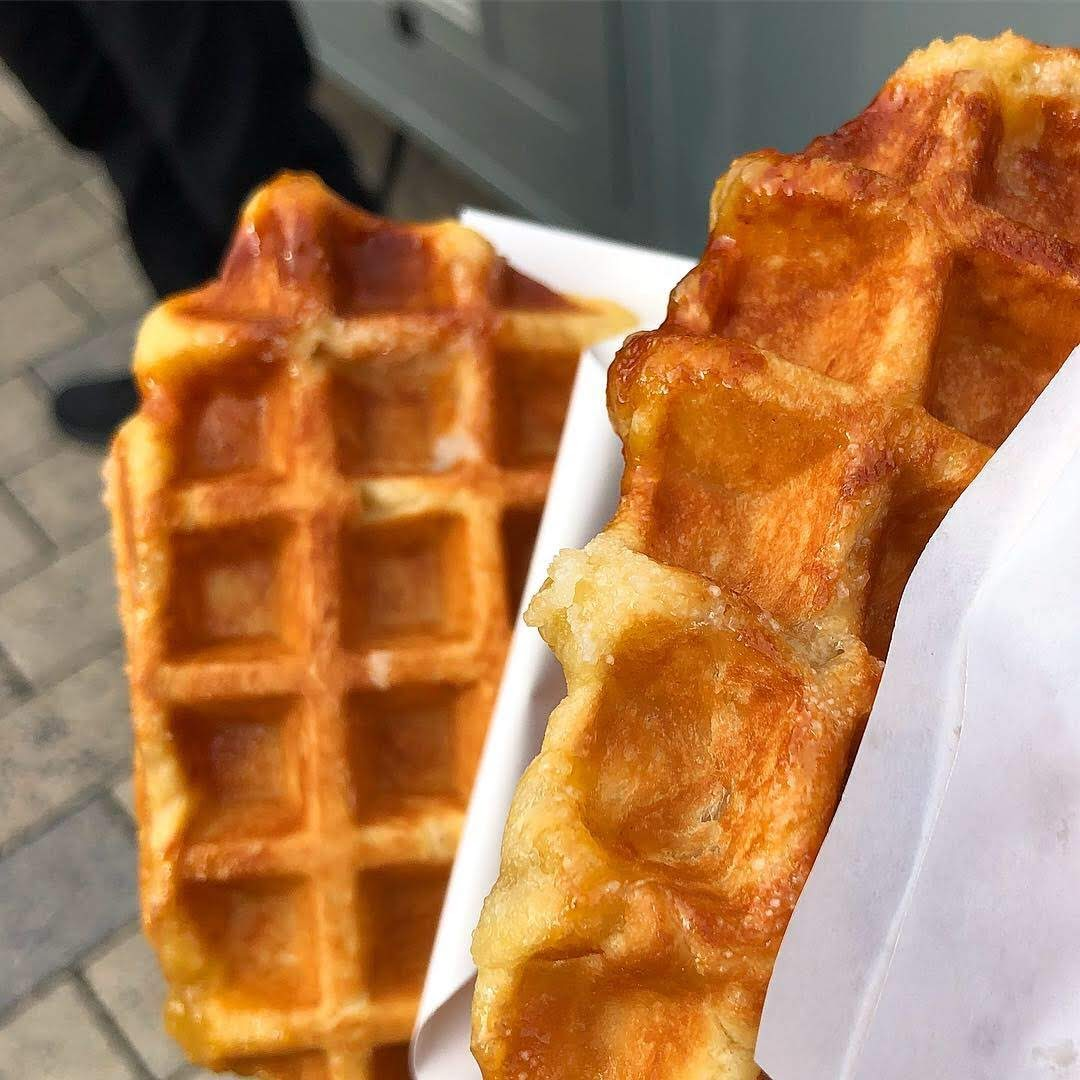 Best Liege Waffles in Brussels, Belgium
