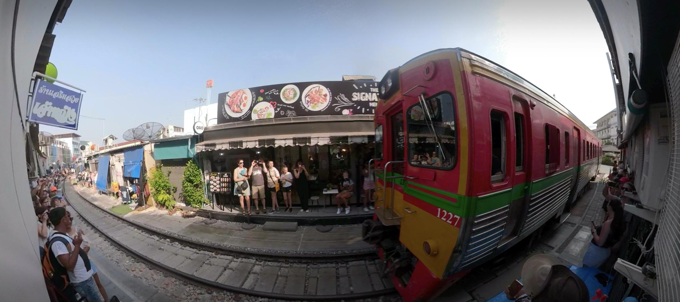 Maeklong Railway Market tour train