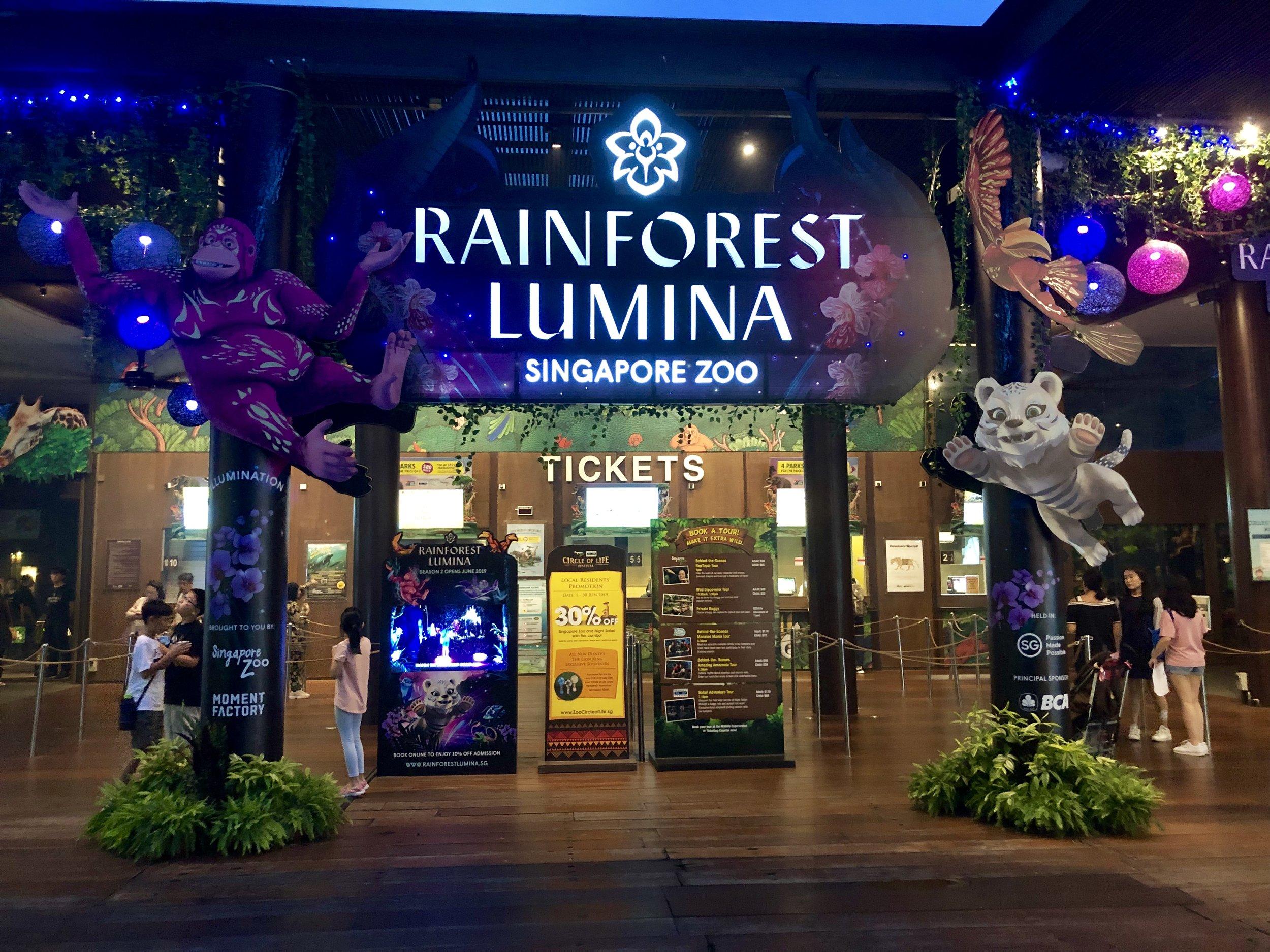 Singapore Zoo Rainforest Lumina