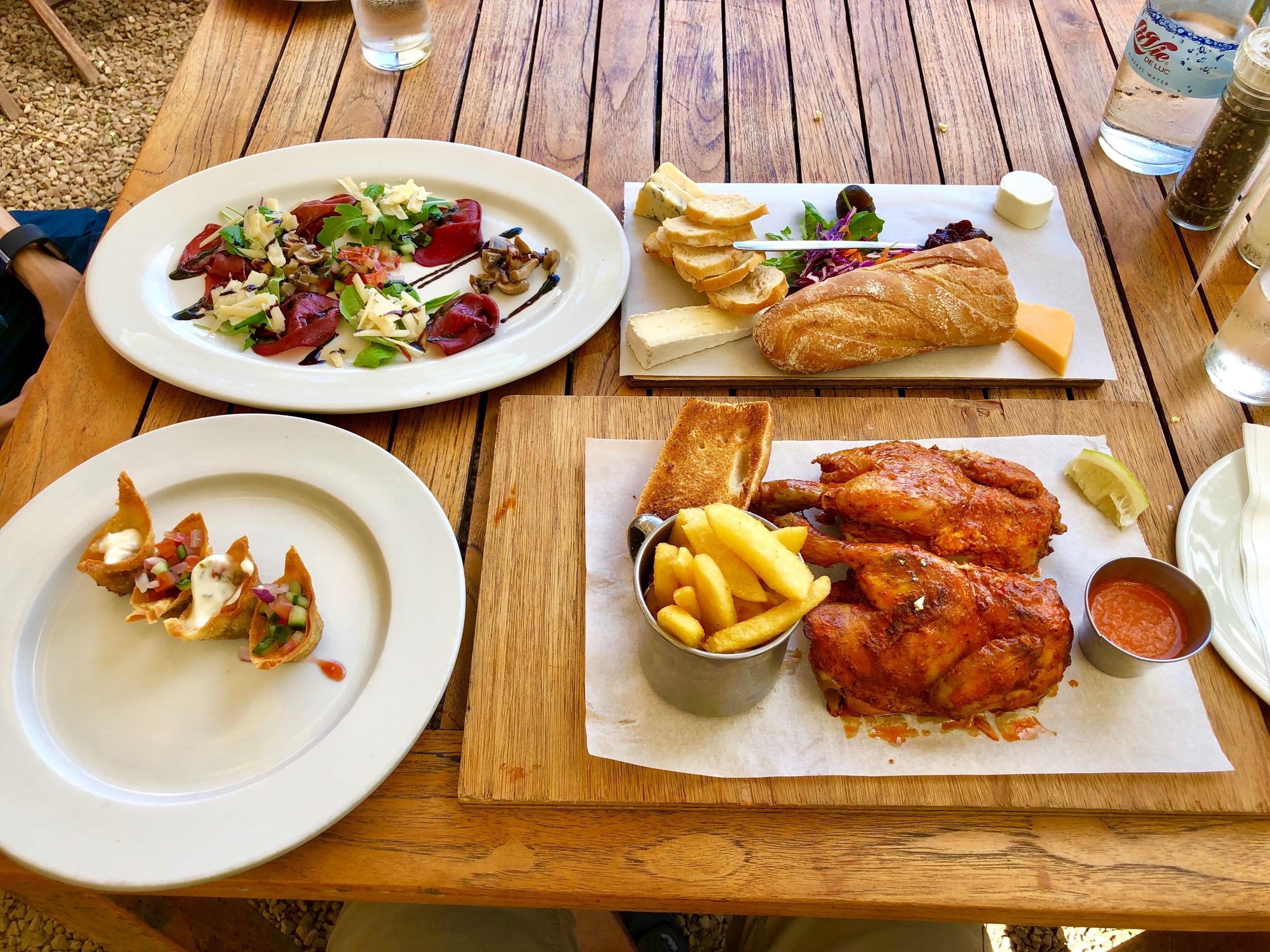 Groot Constantia Restaurant spicy chicken
