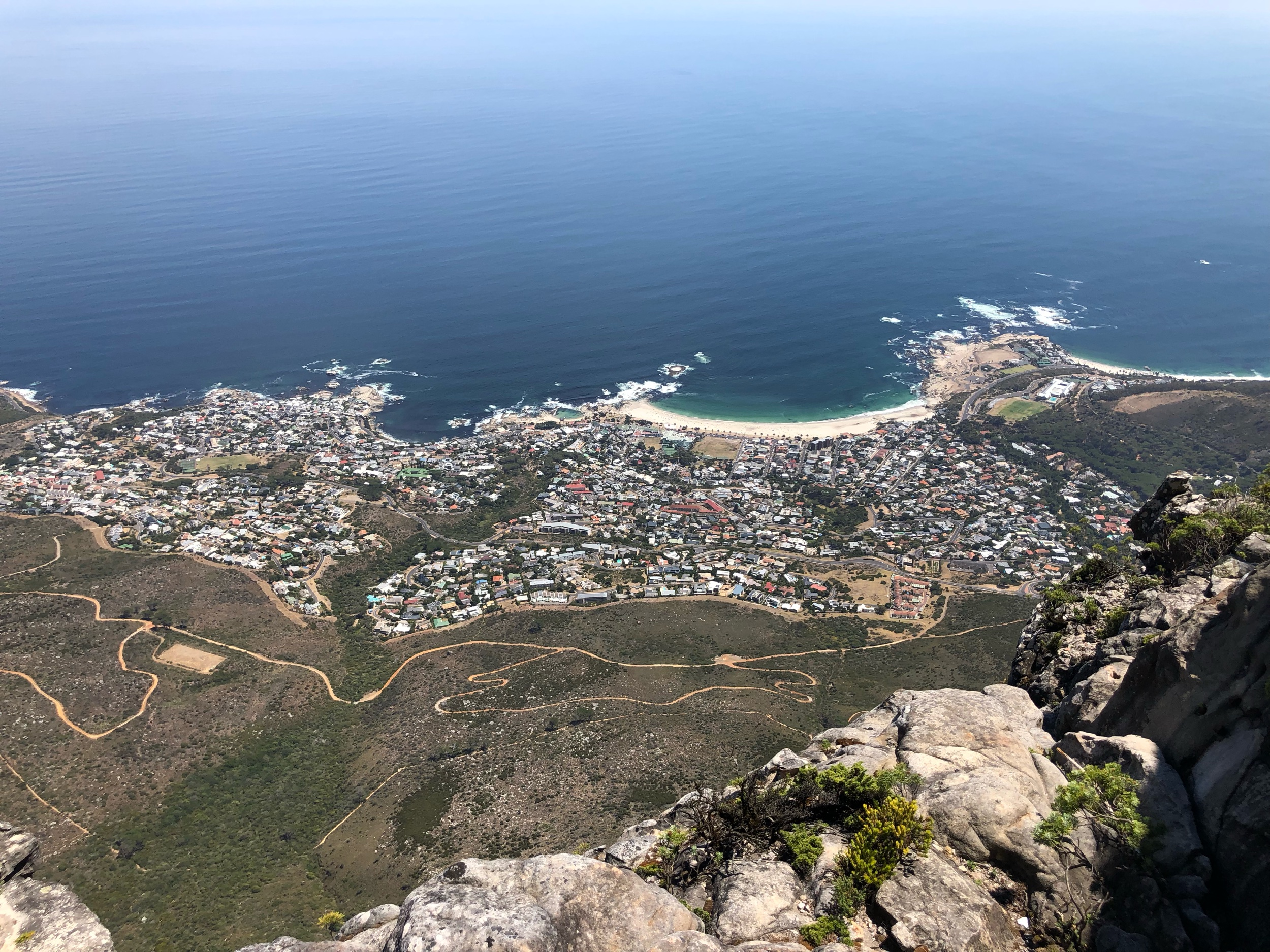 Cape Town CBD view from Table Mountain