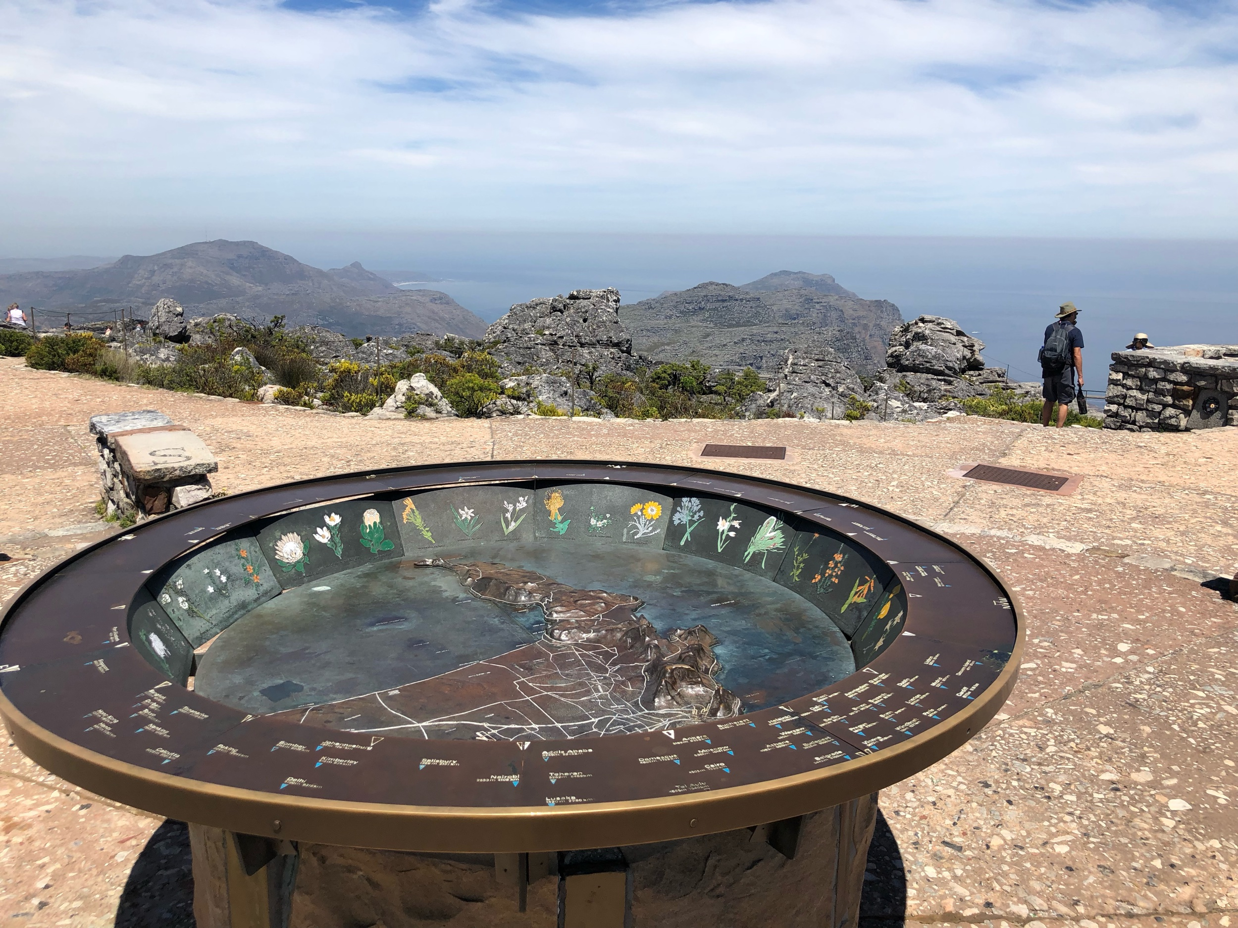 Table Mountain top views of Cape Town and the Bay
