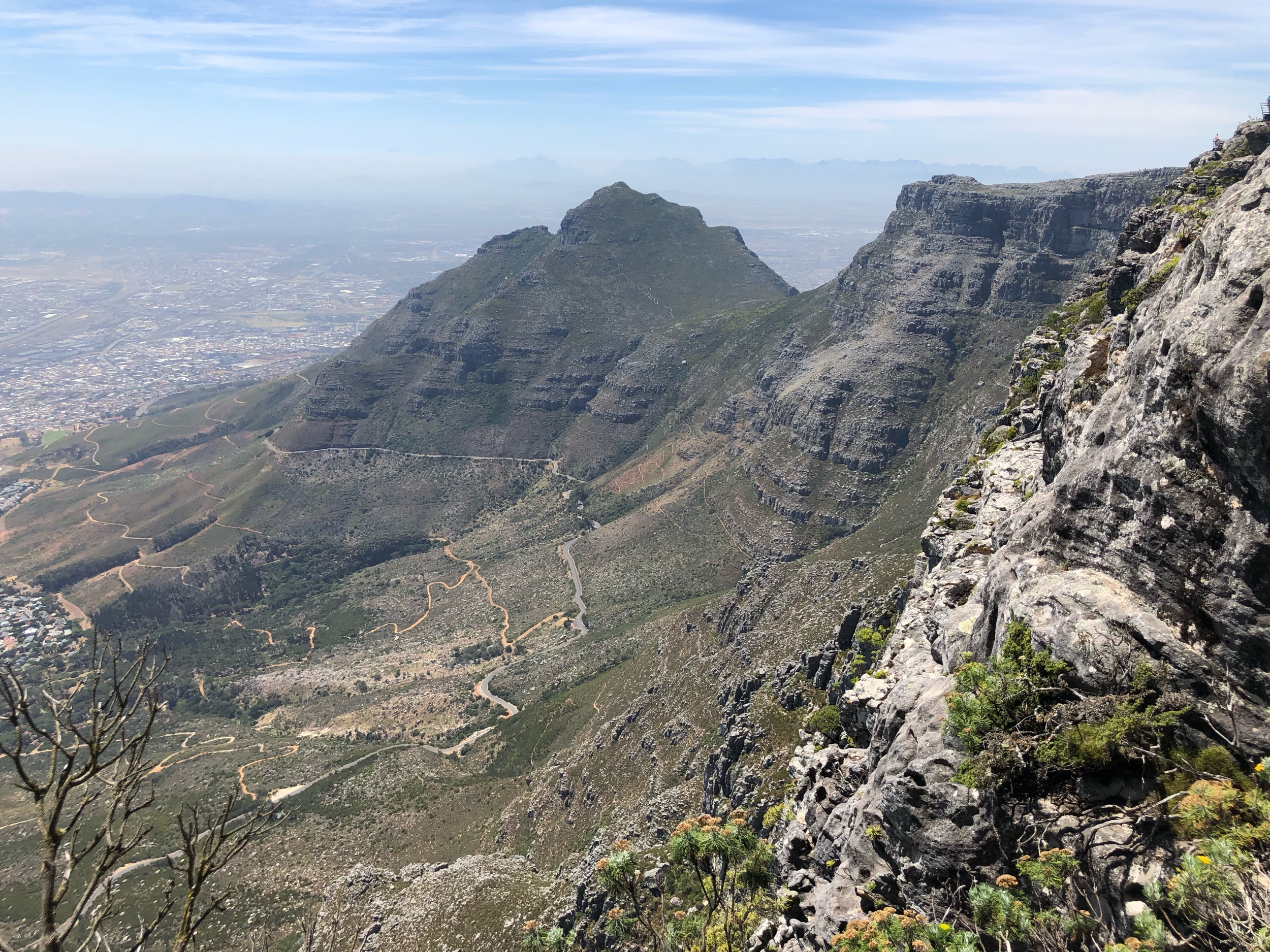 Table Mountain Cape Town South Africa mountain top