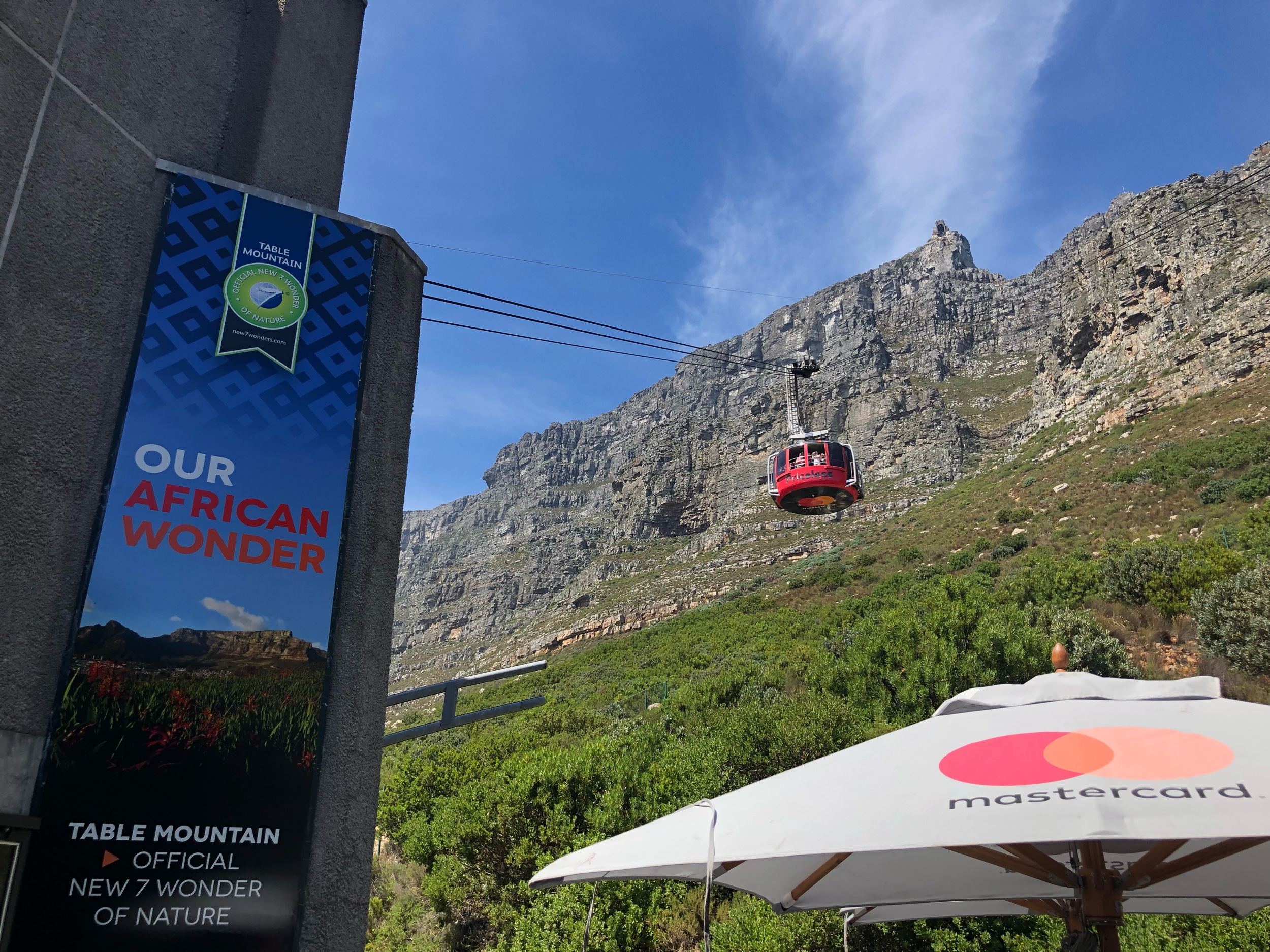 Red Cable Car up to Table Mountain Cape Town South Africa