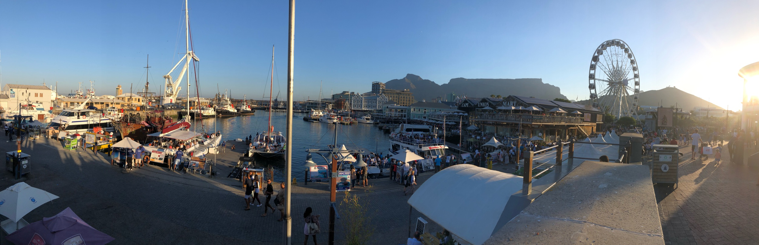 Panorama View of VA Waterfront Cape Town