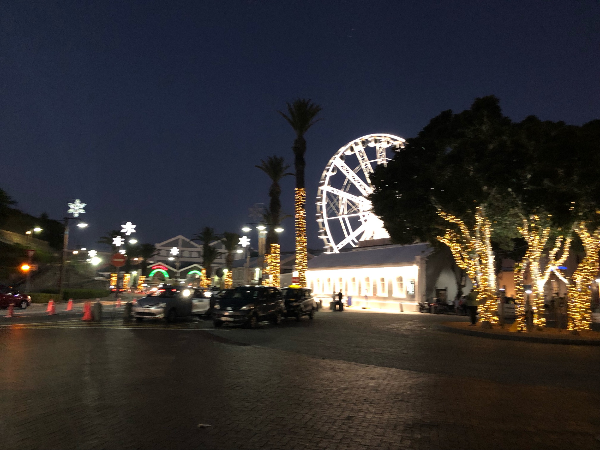 Night view of VA Waterfront Cape Town