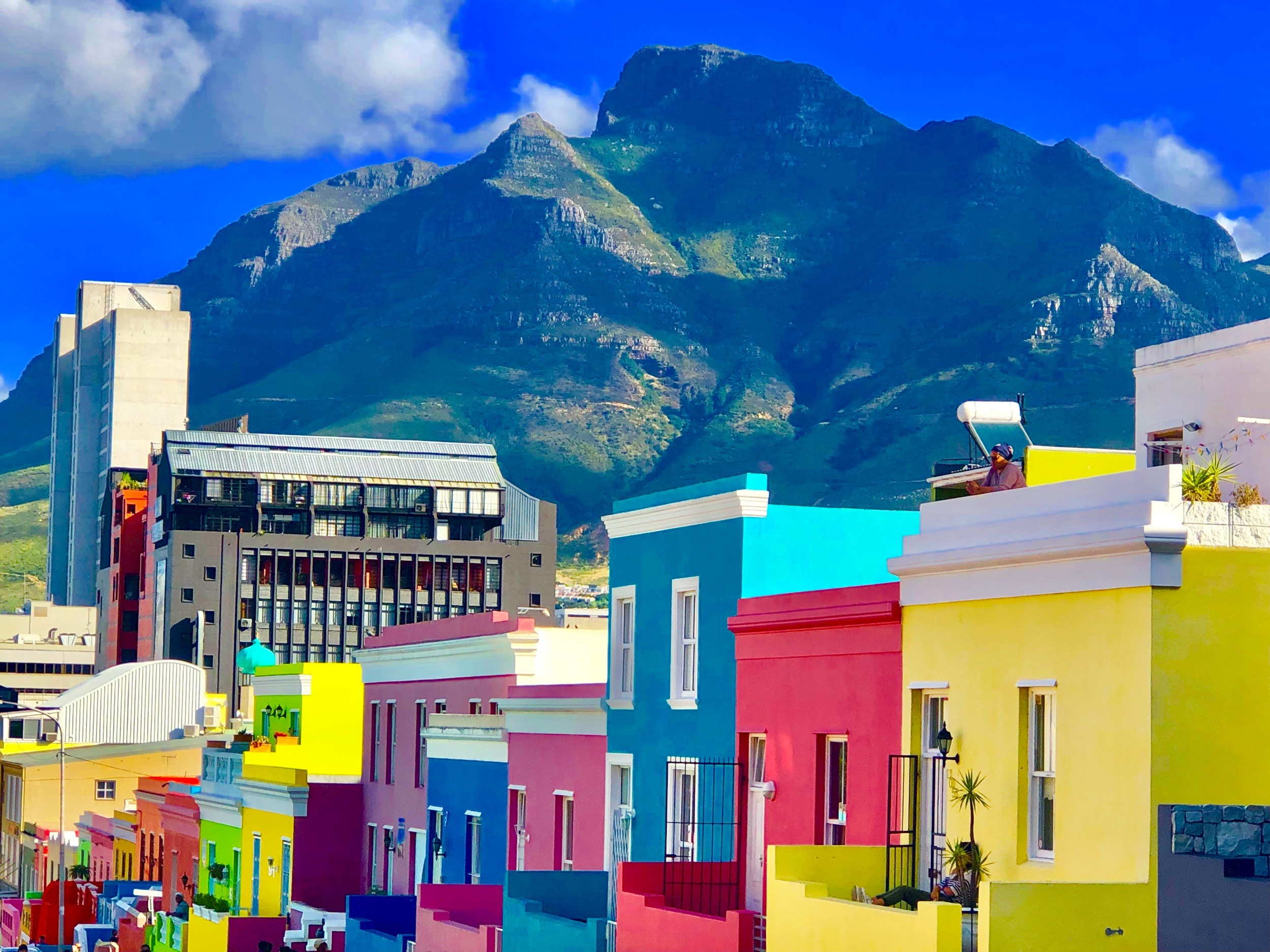 The colorful neighborhood of Bo-kaap in Cape Town, South Africa