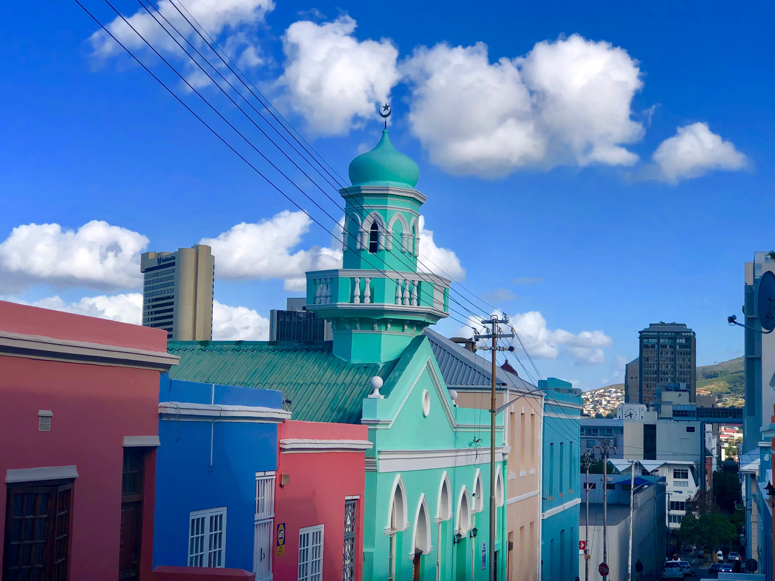 bright colored buildings in bo-kaap