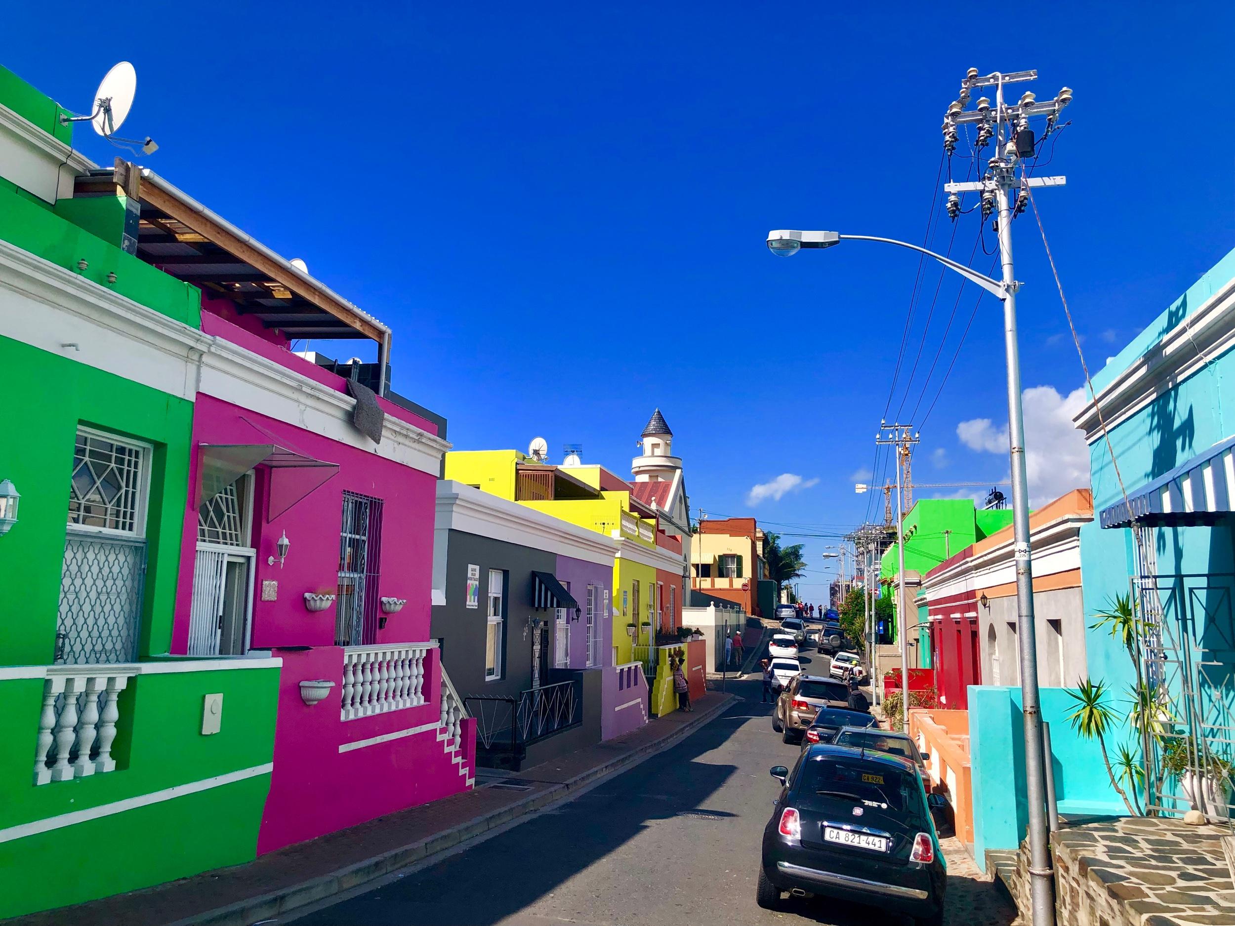 Colorful Bo-Kaap Neighborhood houses