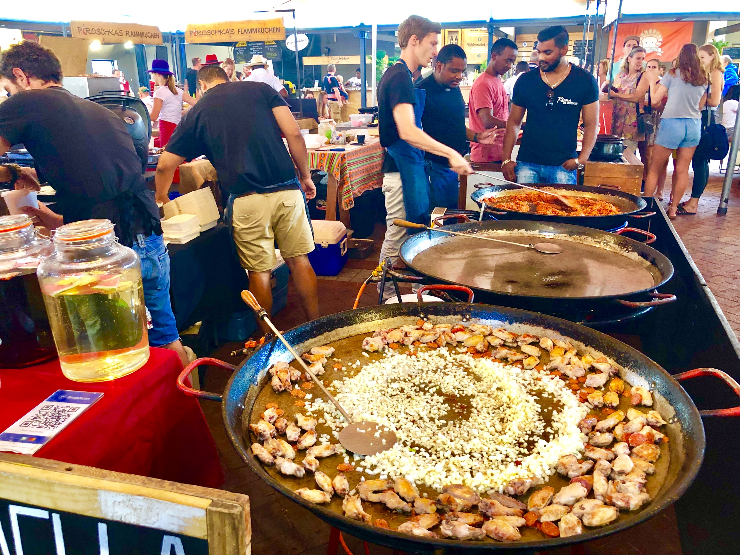 Paella at the Neighborgoods Market, Cape Town South Africa
