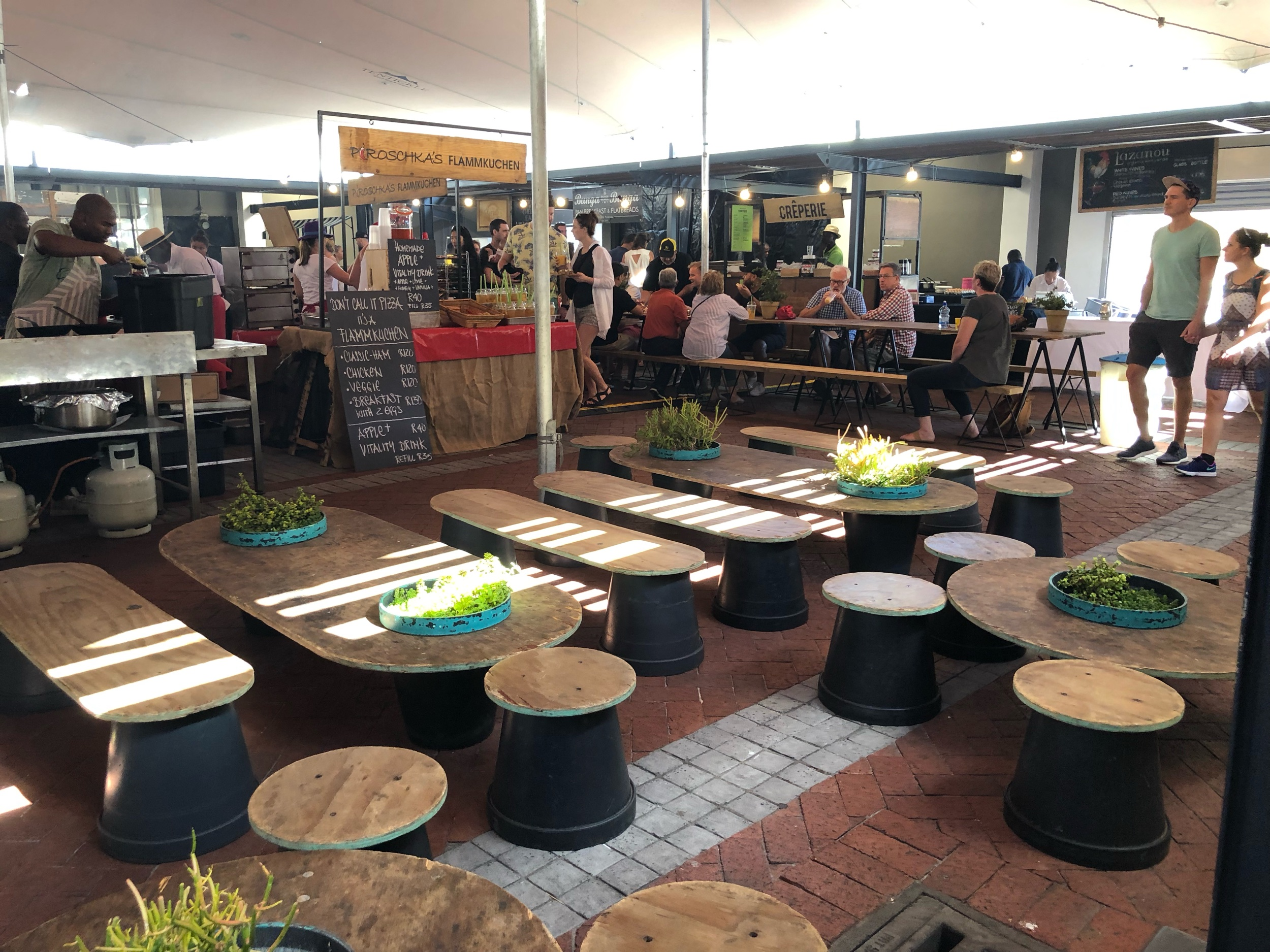 Tables and Seating at Neighborgoods Market, Cape Town