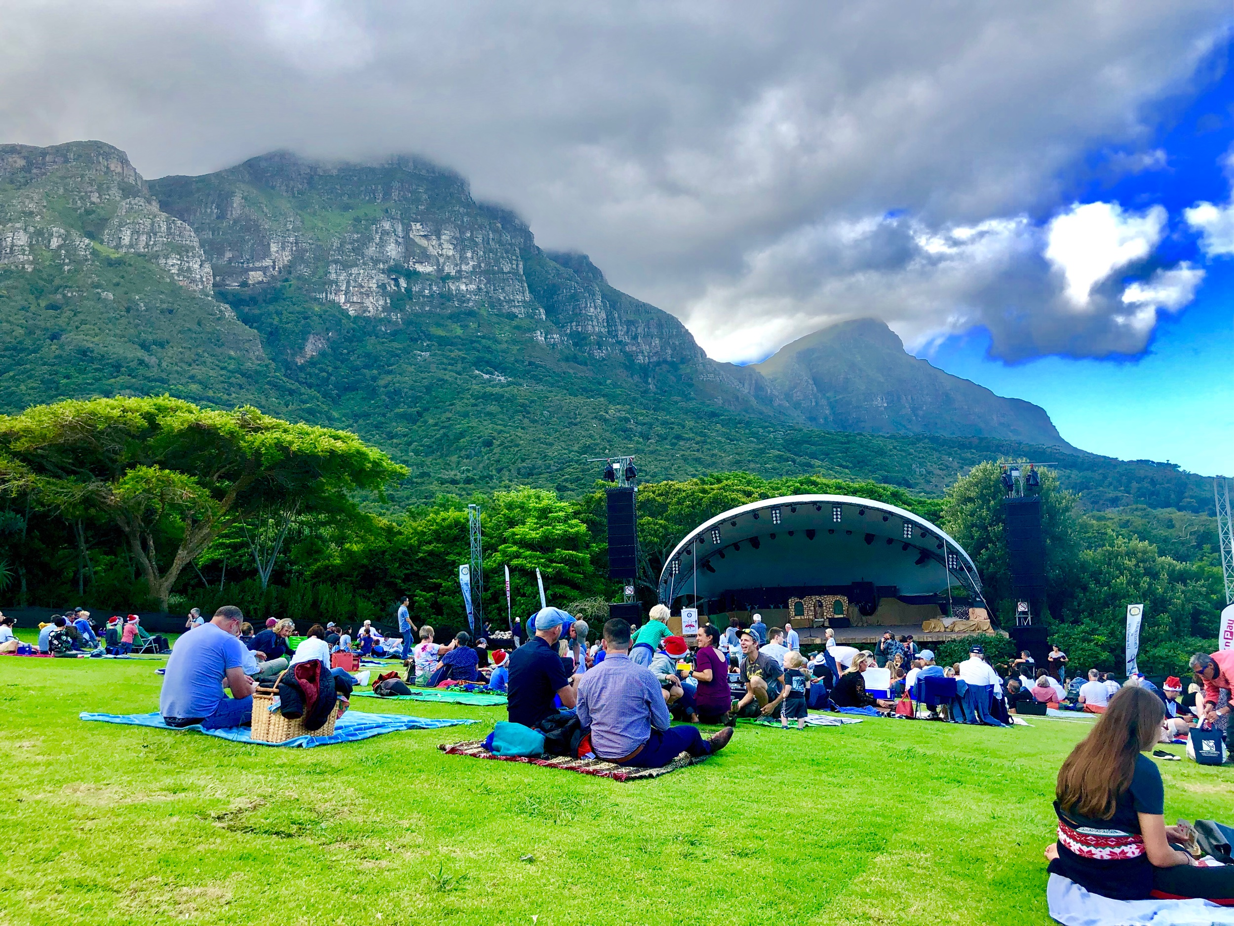 Caroling at Kirstenbosch in Cape Town, South Africa