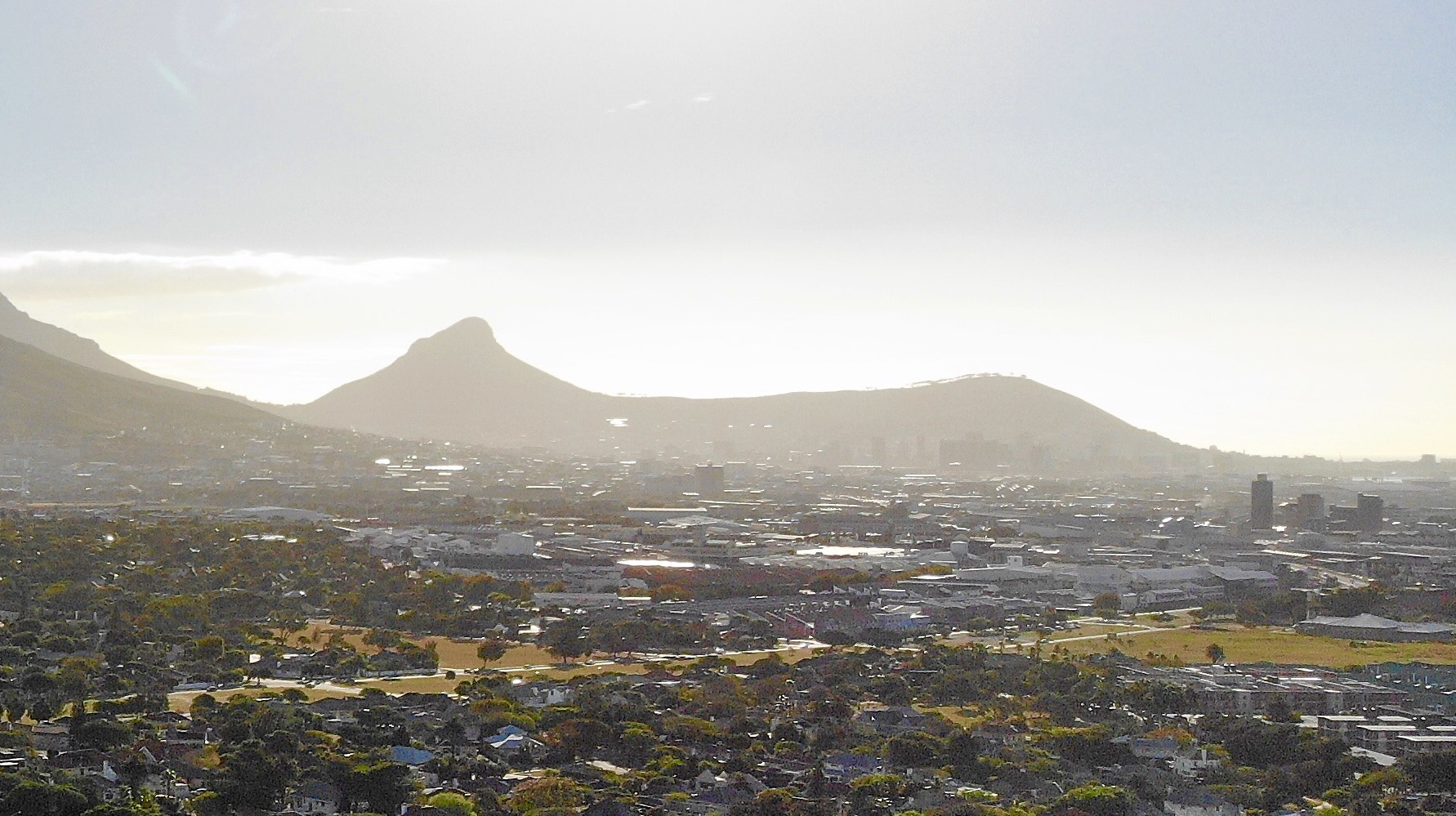 Lion's Head and Signal Hill Panorama twilight