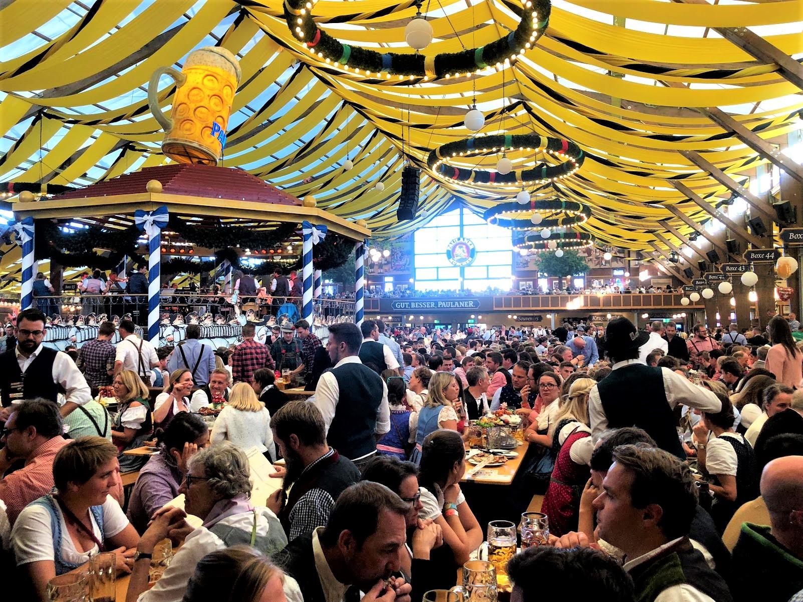 Munich Oktoberfest Paulaner Beer tent