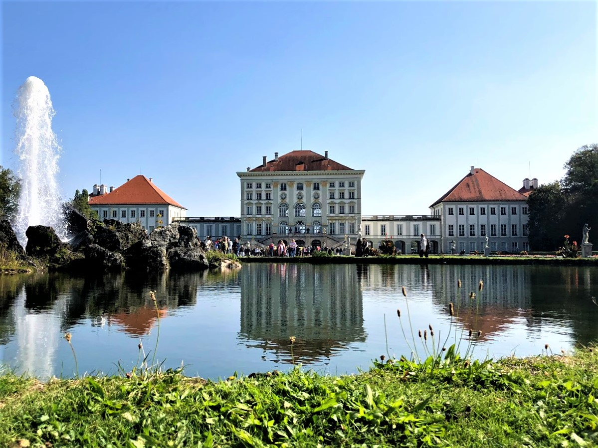 the Front of Schloss Nymphenburg Palace and Garden