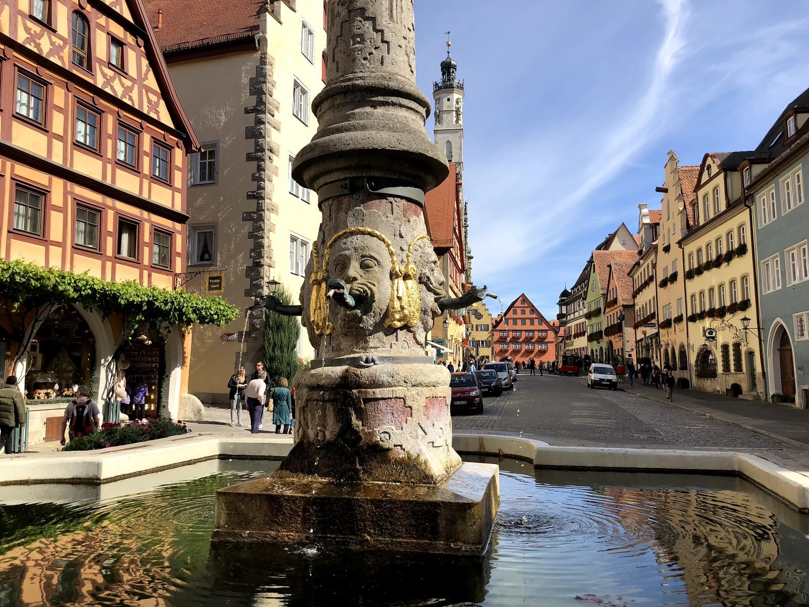 Rothenburg ob der Tauber, Germany fountain