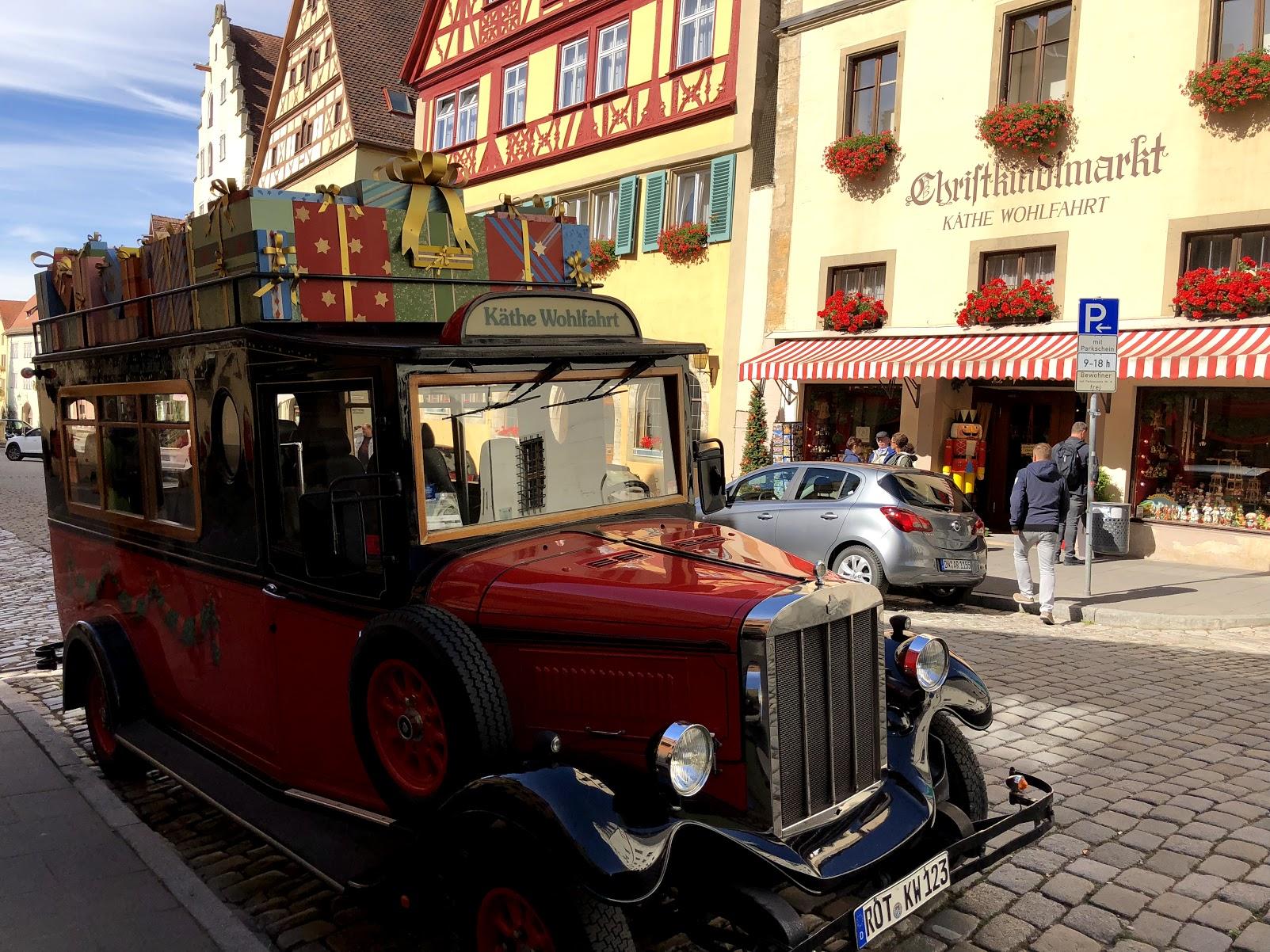 Rothenburg ob der Tauber, Germany Christmas Car