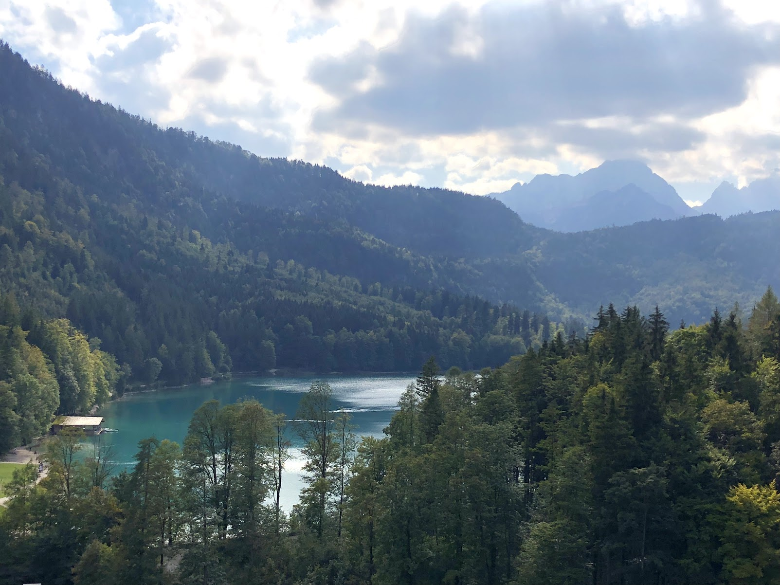 Lake view from Neuschwanstein Castle