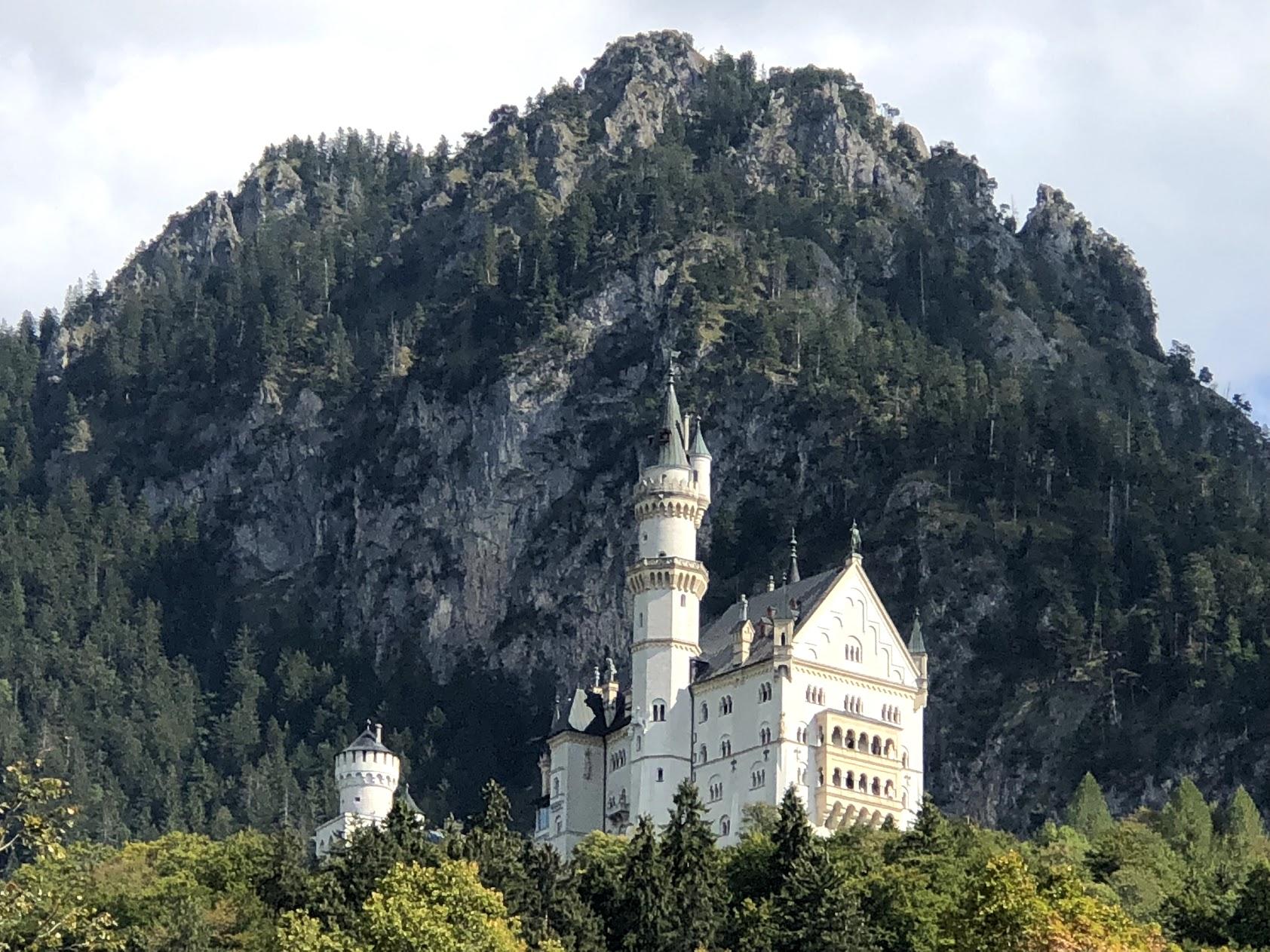 Neuschwanstein Castle and Mountain