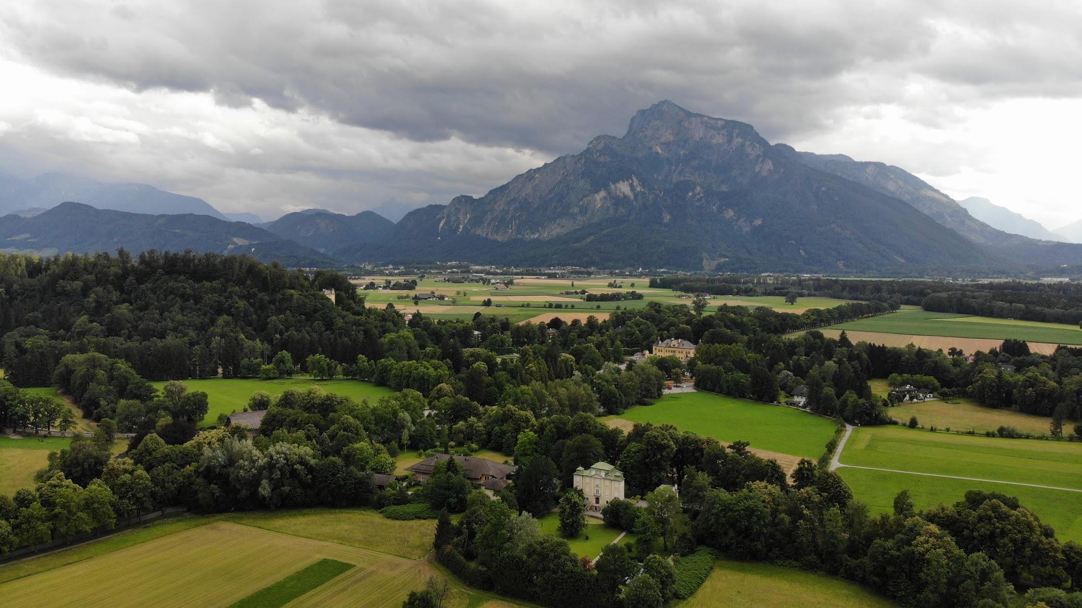 Salzburg fields Drone Photo