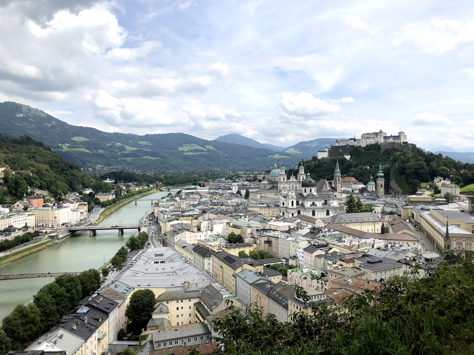 Overlooking Salzburg Austria from the castle