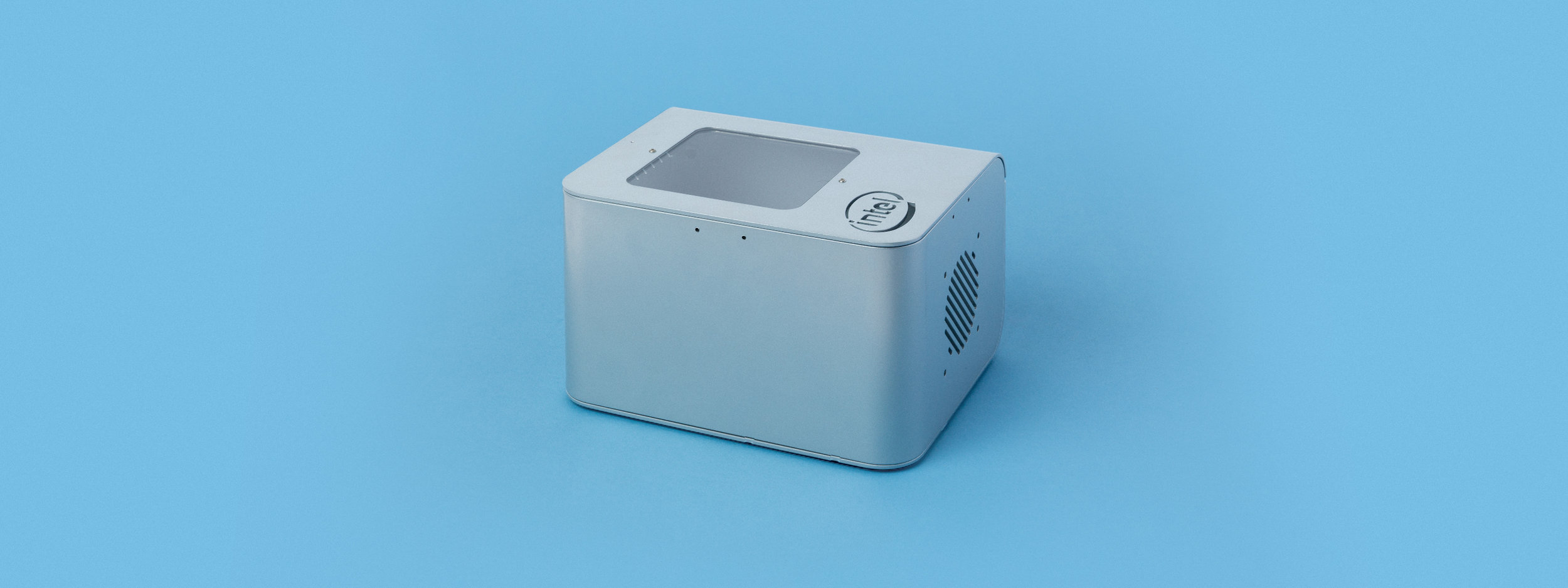laser cut, laser cutting, intel, custom box, magnetic lid, powder coat