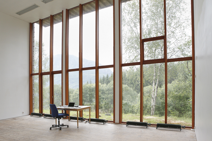 My beautiful studio at the NKD during the residency in 2014, © Juliane Eirich 2014, Dale Norway