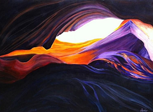 """""""Looking into the Light"""" (Antelope Slot Canyon Series)"""