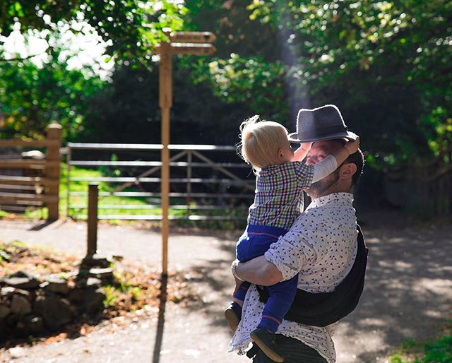 #2. Andrew (40) & Arthur (21mths) - Met these two at the city farm. Andrew, a one-time nurse, marketeer and violin player intends to avoid typical English reserve with showing emotion and love with his kids and is guided simply by wanting them above everything else to be happy, open human beings. Andrew was kind enough to share with me his personal journey in fatherhood, much of which has by no means been plain sailing. I was so struck by his openness and bravery in dealing with some of life's toughest topics such as loss and depression. A truly inspirational man and father, such a great pleasure to spend time with you and your  incredible boy! #awesomedad #dontforgetfathers #bristoldadproject