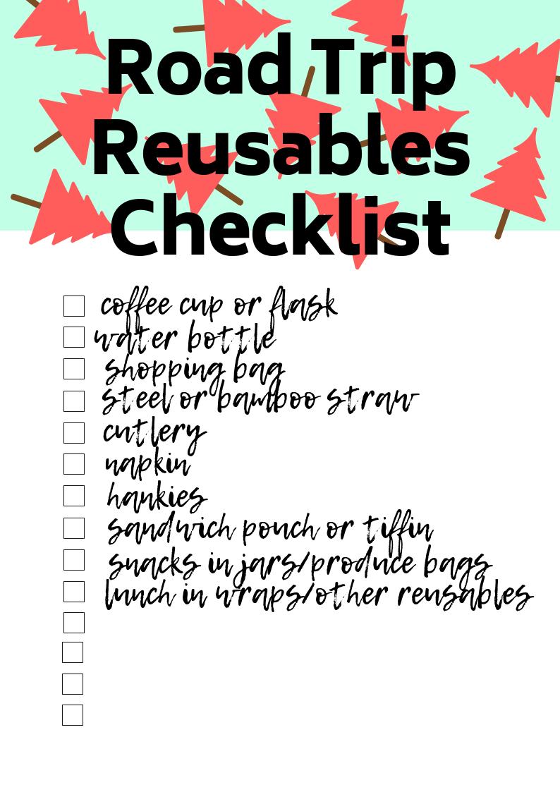 Reusable Nation - road trip reusables checklist