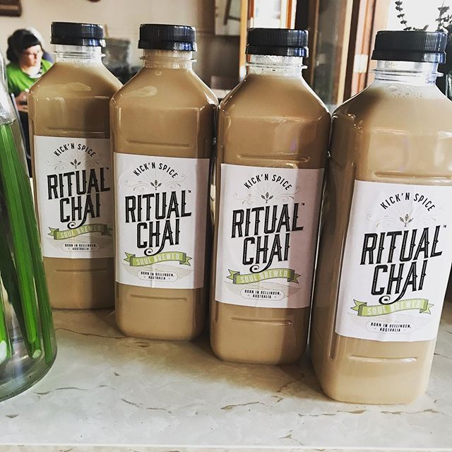 For all you #ritualchai lovers out there guess what has just landed in store?! - 1L take home bottles!! For just $10. Pop in quick before they go . . . . . #5churchst #no5 #ilovebelloshire #ilovebello #cafe #coffee #food #bello #bellingen #yummy #takehome #kicknspice