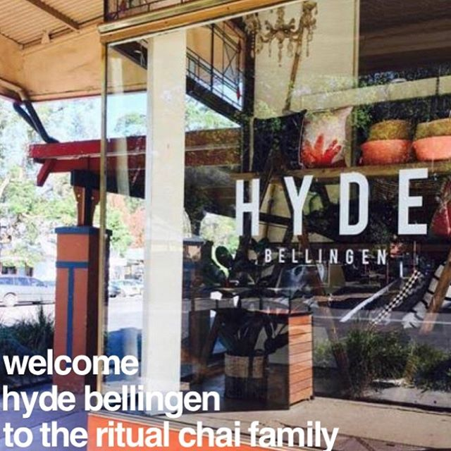 Big Welcome to @hydebellingen_cafe to the Ritual Chai family. So all you Ritual Chai addicts in #Bello will be able to now also get your fix at Hyde . . . . #ritualchai #kicknspice #letsmakechaiglobal #findyourfix #chai #spicedgoodness  #hotdrink #morningfix #lunchtimefix #bellingen #eveningfix #chailatte #chailovers