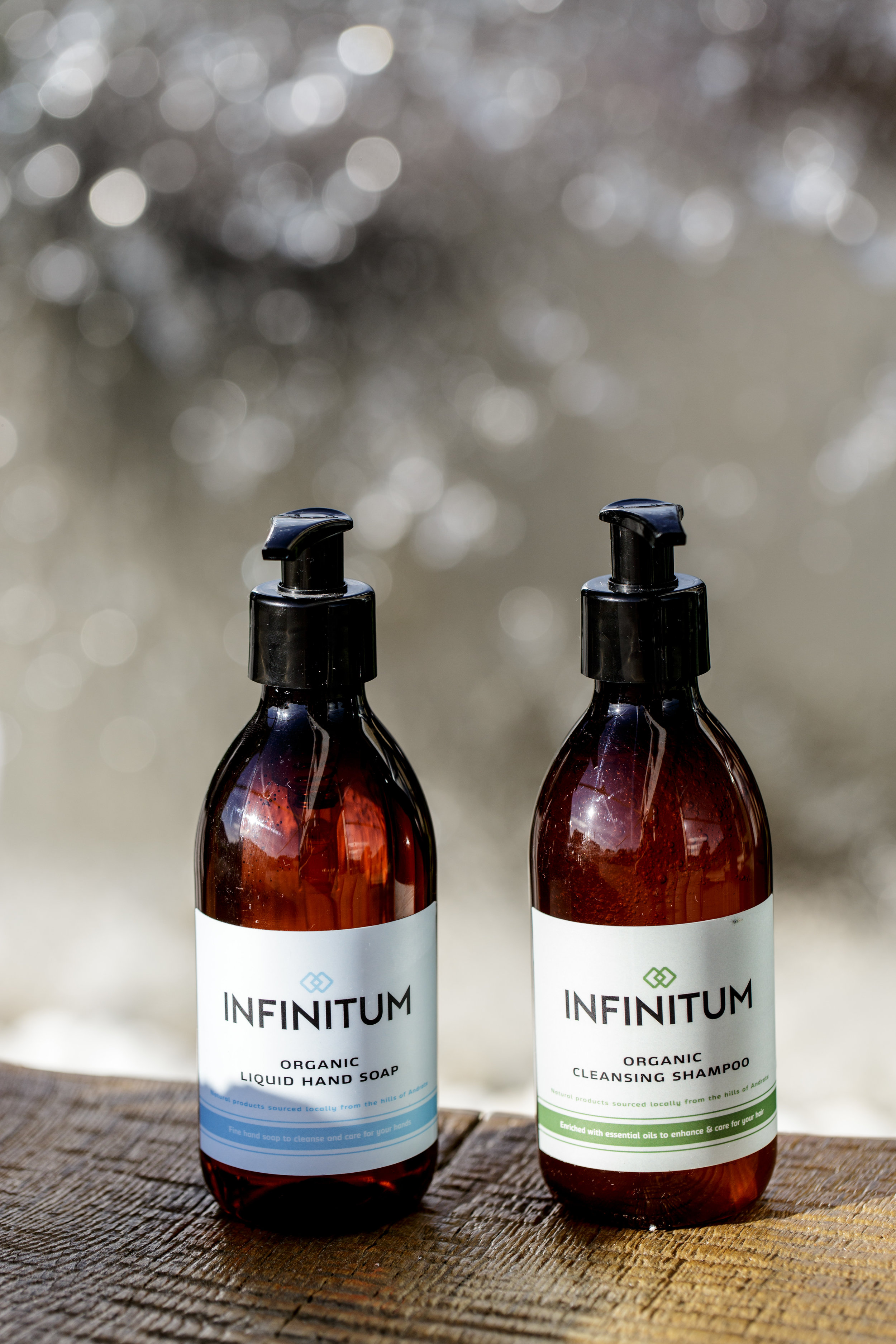 - Toiletries. We provide complimentary organic Infinitum Toiletries, locally sourced from the hills above Port D'Andratx.