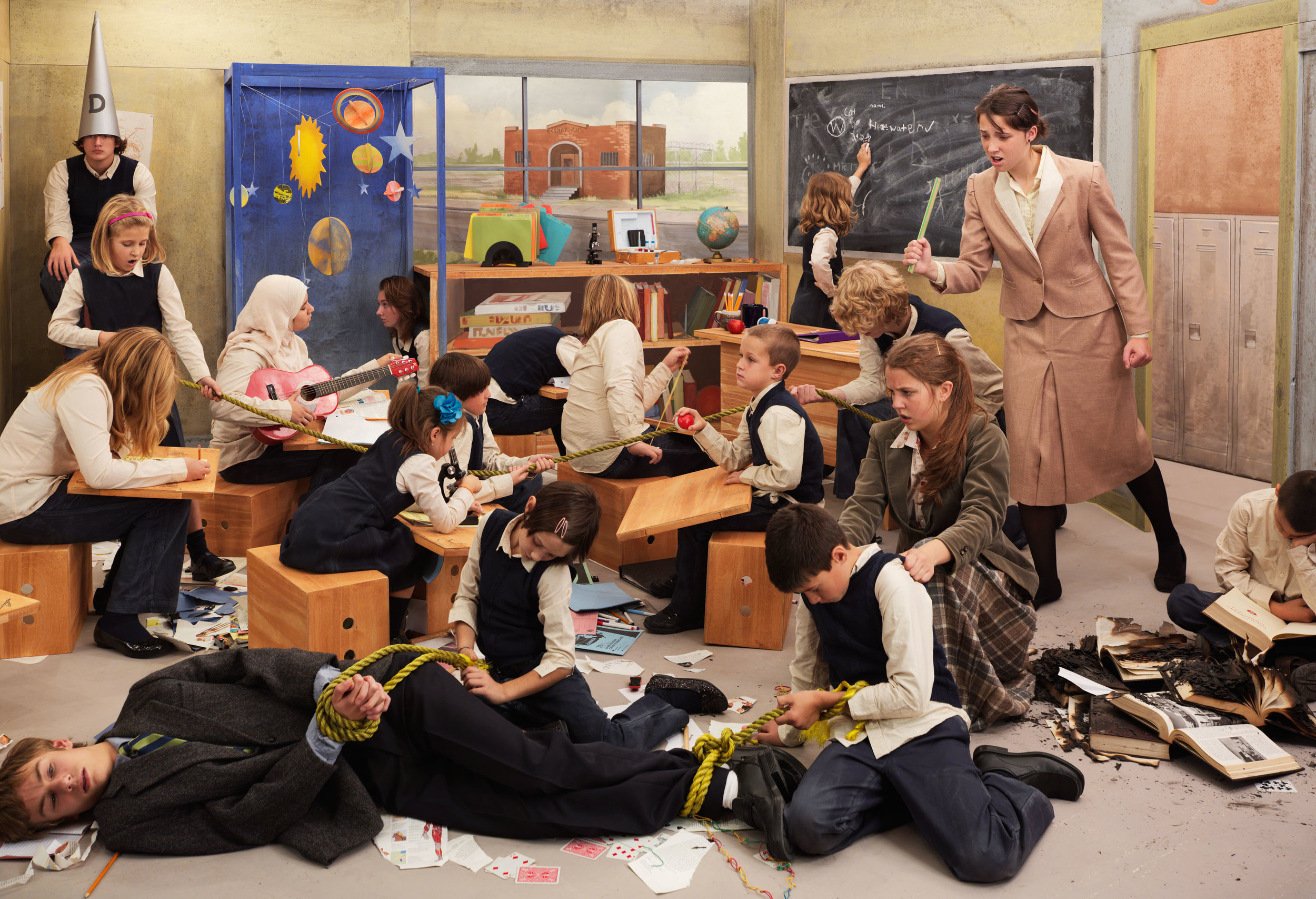 The Diversions (Full Classroom)   2012, archival pigment print. 75 x 100.5 cm / 27 x 39.5 in. Edition of 3 Produced with the assistance of the Judith & Norman Alix Art Gallery