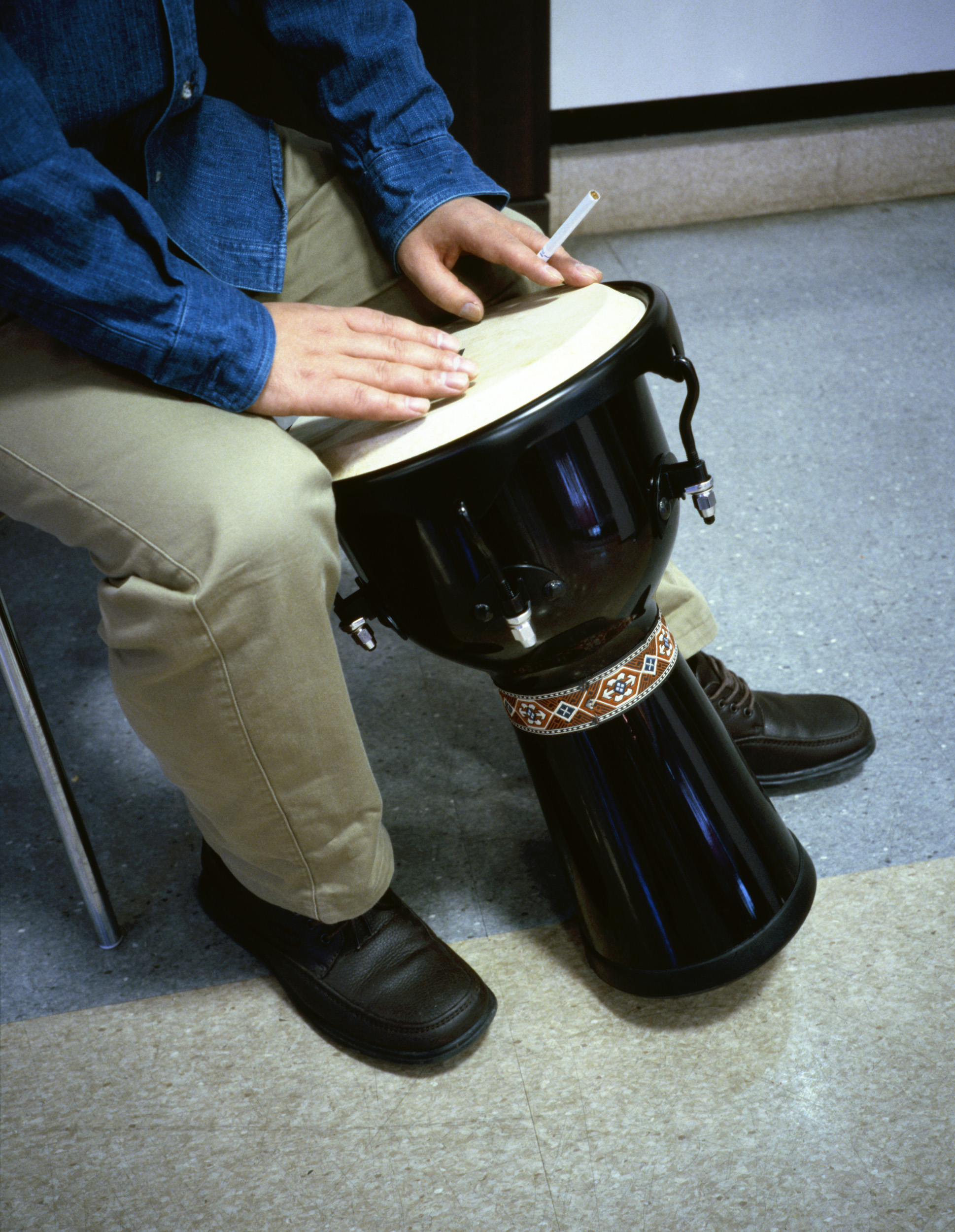 Untitled Production Still (Bongo Player's Hands)  2005, colour photograph 76 x 58 cm / 30 x 23 in.