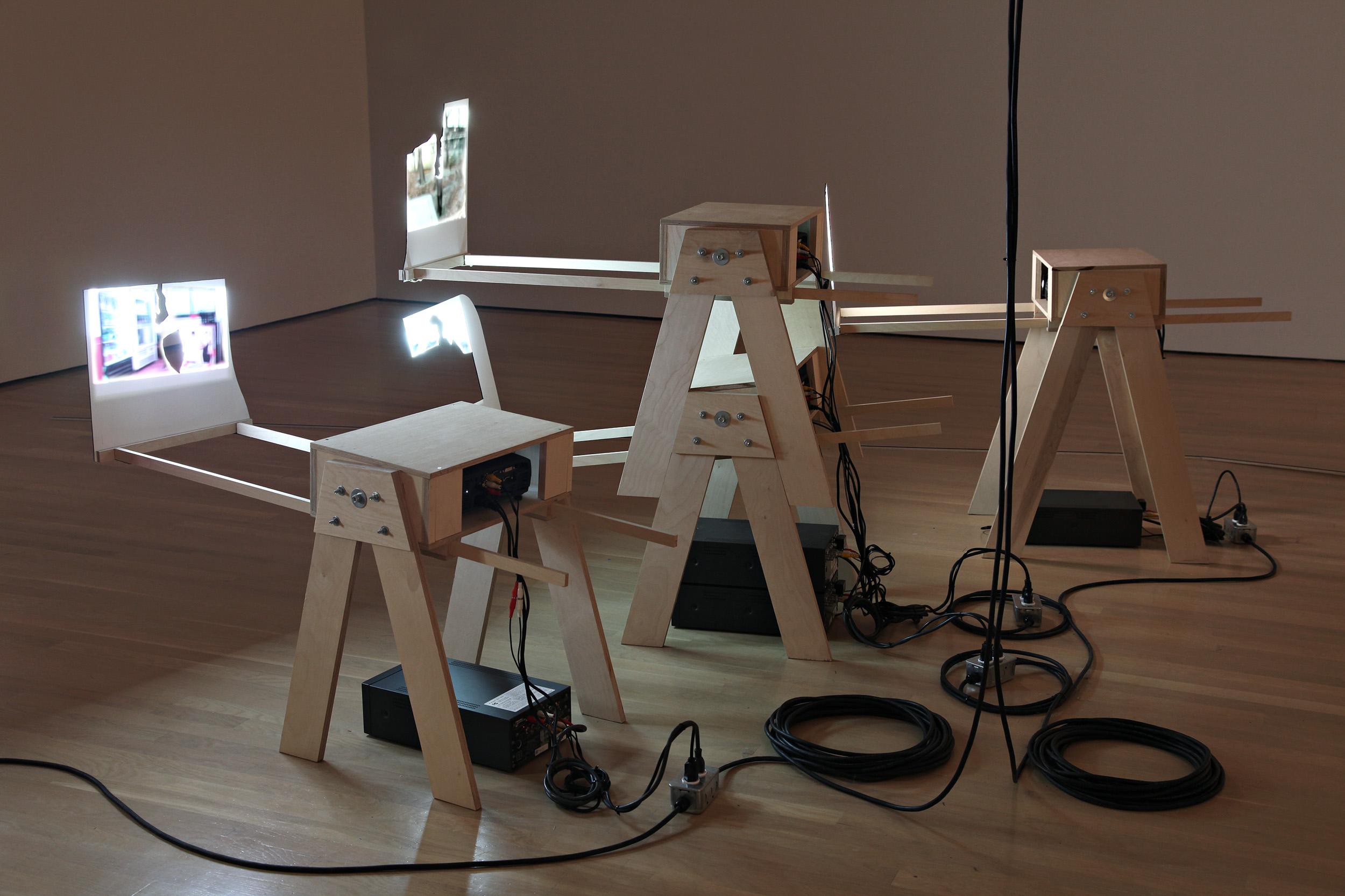 Cuba Still (Remake) , detail of installation at Gallery B-312, Montreal, 2005